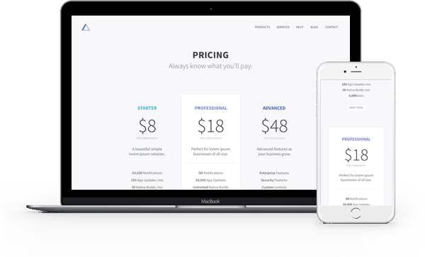 Pricing Tables Layout