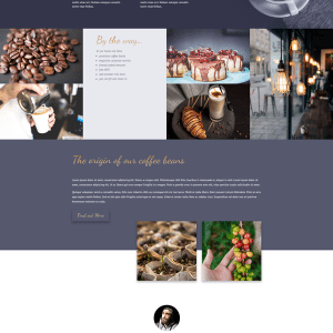 Coffee House 1 page Layout