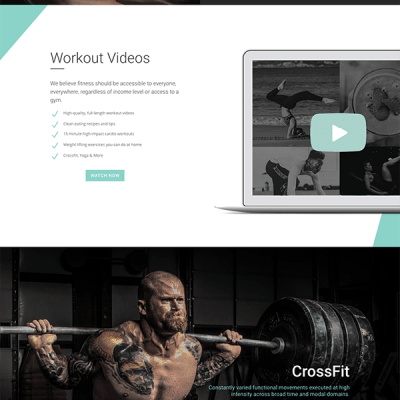 Crossfit/Fitness Layout Pack