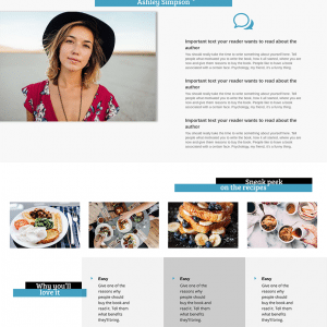 Book Author 1 page Layout