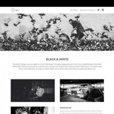3x Project Page layouts