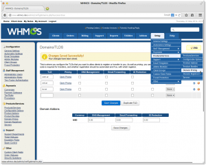 WHMCS Domains Pricing