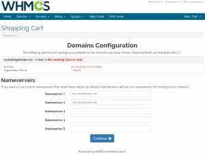 WHMCS Nameservers