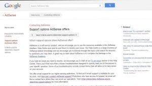Google AdSense Support