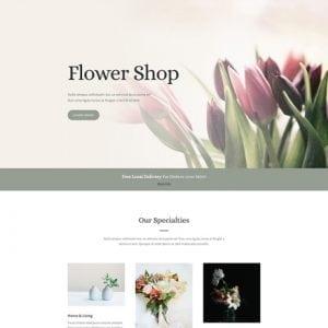 Divi Florist Layout