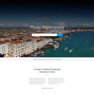 Divi Photo marketplace layout