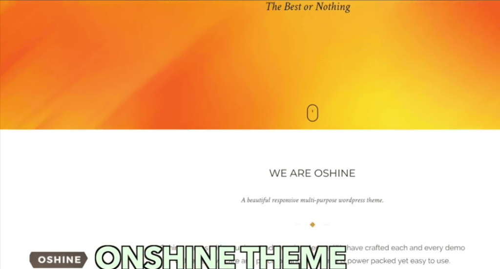 Onshine theme
