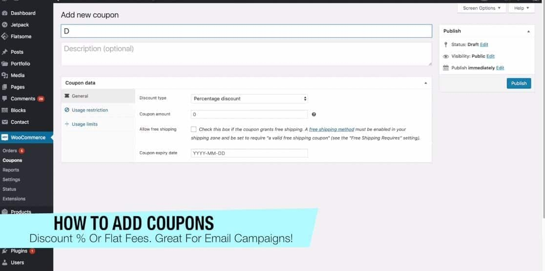 How to Add Coupons Woocommerce