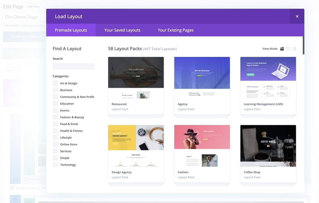 Divi Layout Packs