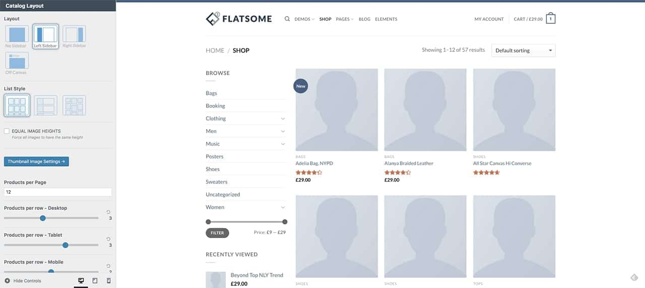 Flatsome Catalog and Shop Page Options