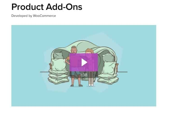 Product Add-Ons - WooCommerce