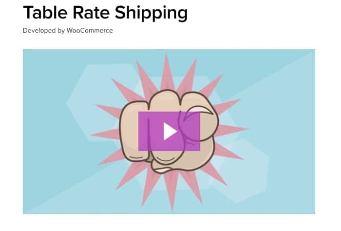 Table Rate Shipping - WooCommerce