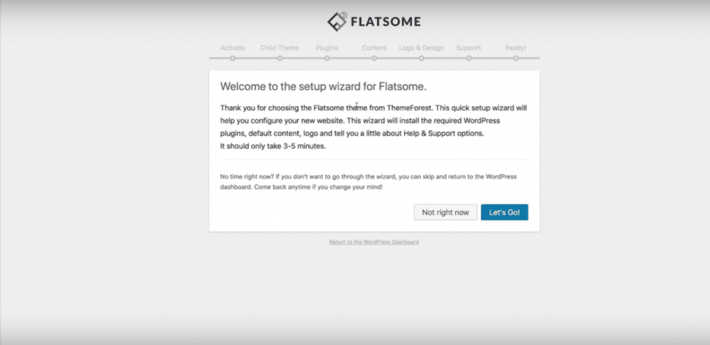 Installing the Flatsome Theme