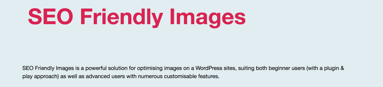 SEO Friendly Images SEO WordPress Plugin