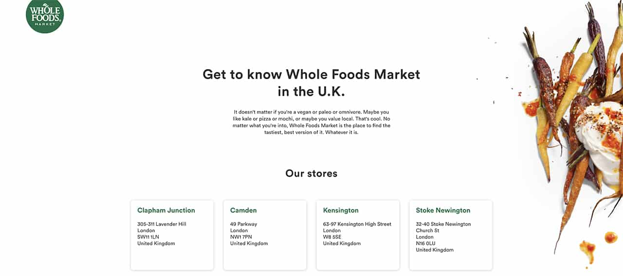 WholeFoods Green Color on Website