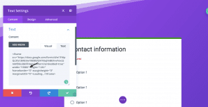embed divi changing sizes