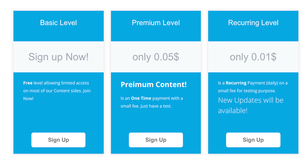 Membership Levels with Ultimate Membership Pro Plugin