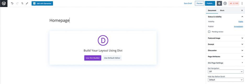 Créer une page d'accueil